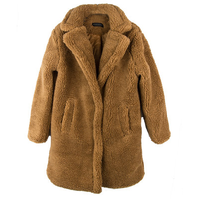 WOMEN TEDDY COAT CARAMEL