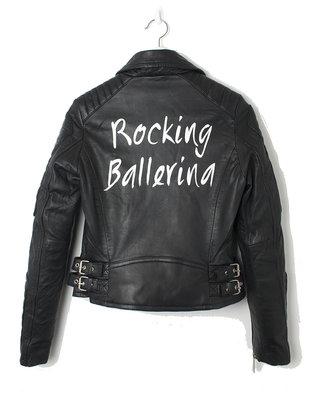 ROCKING BALLERINA BIKER JACKET ( CUSTOMIZED)