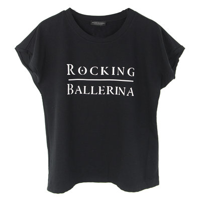 SWEATER SHORT SLEEVES : ROCKING BALLERINA DARK NAVY (MAG NIET MEER RETOUR)