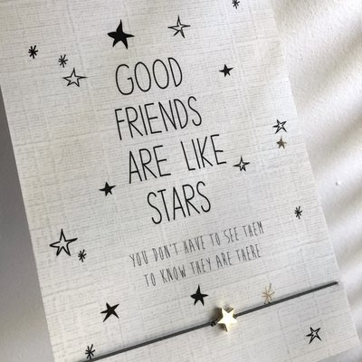 WISH CARD GOOD FRIENDS ARE LIKE STARS