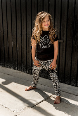 GIRLS ZEBRA DROPPED CROTCH JOGGER