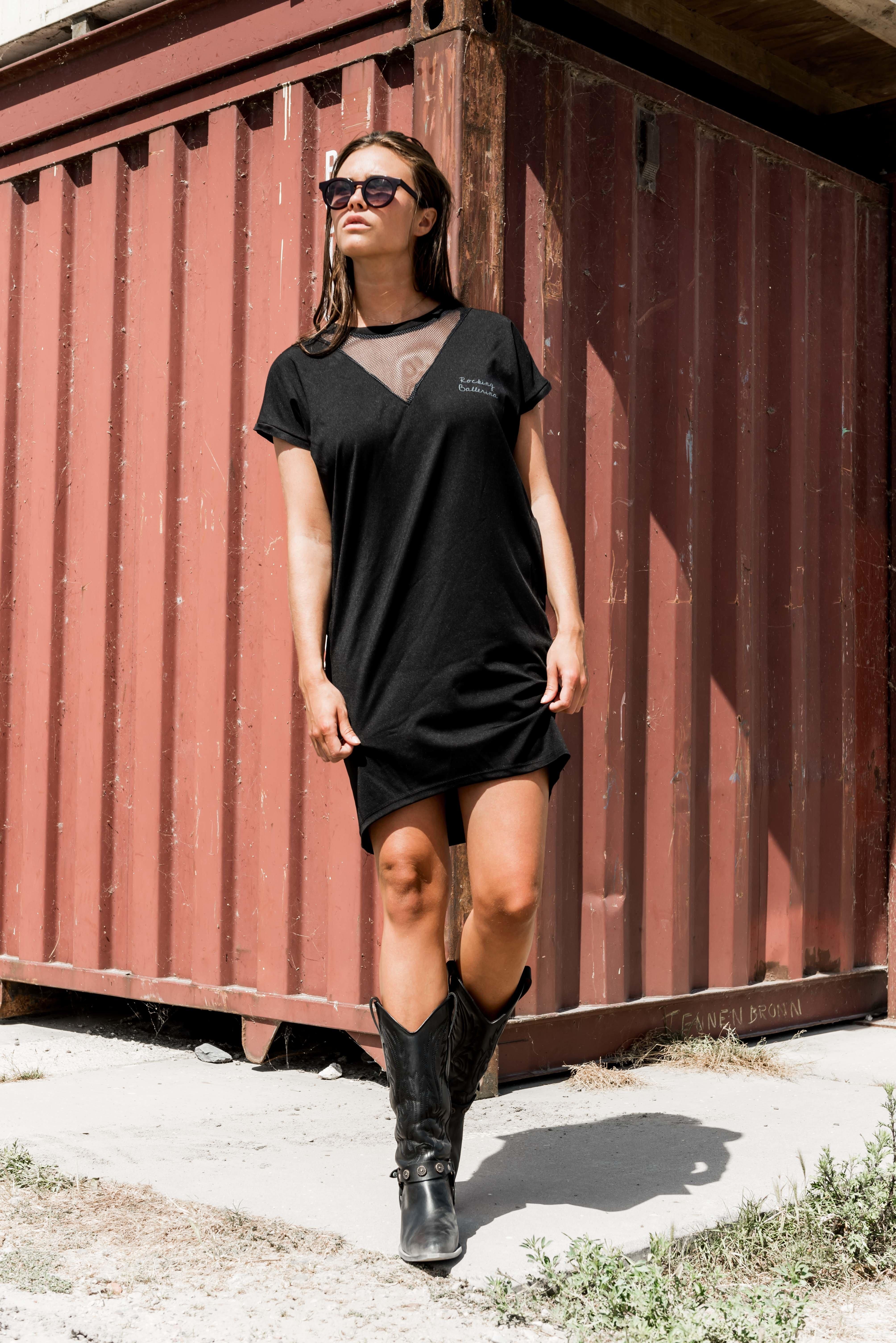 MESH TSHIRT DRESS ROCKING BALLERINA