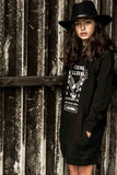 GIRLS HOODED SWEATDRESS EAGLE STARTOUR- MAG NIET MEER RETOUR_