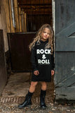 GIRLS HOODED SWEATDRESS ROCK & ROLL_
