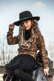 GIRLS TIGER SWEATER HOWDY COWBOY - MAG NIET MEER RETOUR_