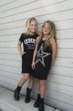 GIRLS T'SHIRT DRESS ROCKING BALLERINA_