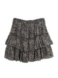 GIRLS LEOPARD RUFFLE SKIRT BLACK_