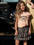 GIRLS RUFFLE TEE : ROCKING BALLERINA SUN PEACH_