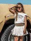 GIRLS RUFFLE TEE : ROCKING BALLERINA SUN COCONUT_