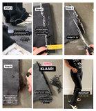 BLACK SKINNY FLARE _