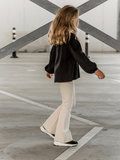 GIRLS FLARE PANTS PUNTA MILANO - CREAM_
