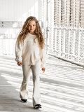 GIRLS FLARE PANTS PUNTA MILANO - CREAM_
