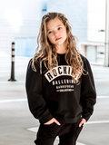 GIRLS OVERSIZED SWEATER ROCKING BALLERINA - BLACK _
