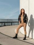 WOMEN OVERSIZED SWEATER JUST ROCK  - CAMEL_