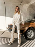 WOMEN : CREAM FLARE PUNTA MILANO STRETCH _
