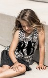GIRLS MUSCLETEE : ZEBRA GREY _