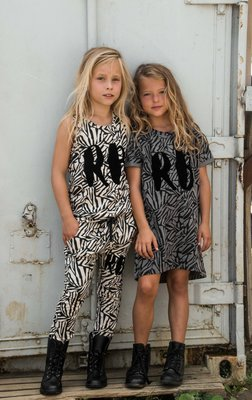 GIRLS ZEBRA DRESS GREY