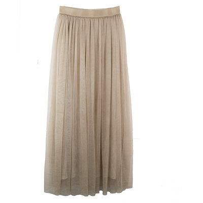 TULLE ROK LANG - SAND