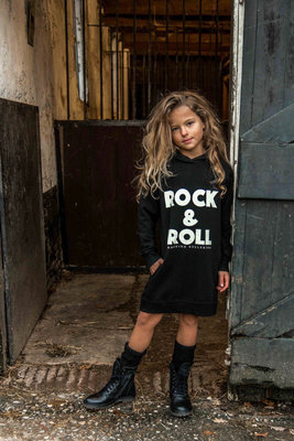 GIRLS HOODED SWEATDRESS ROCK & ROLL