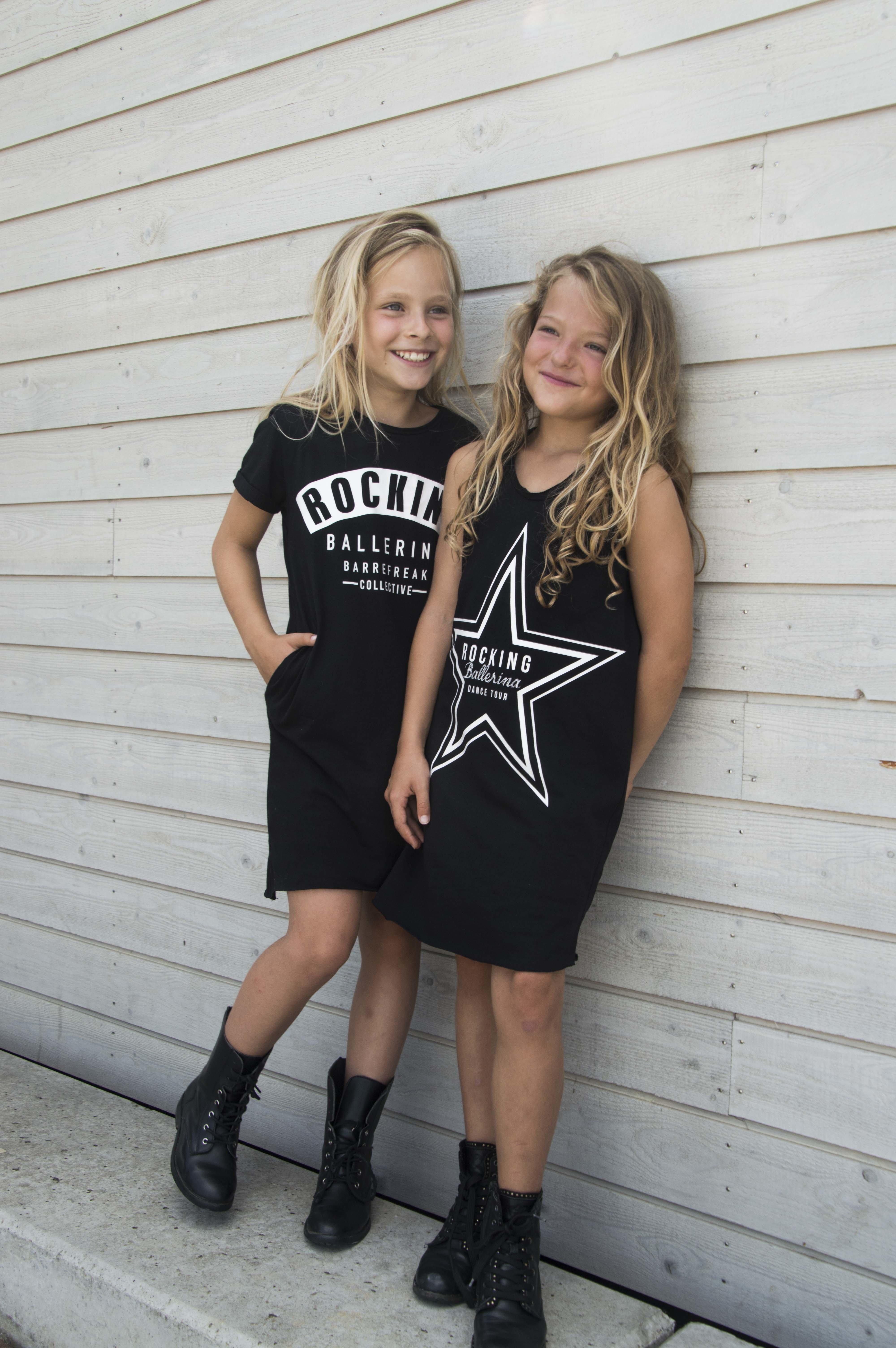 GIRLS T'SHIRT DRESS ROCKING BALLERINA