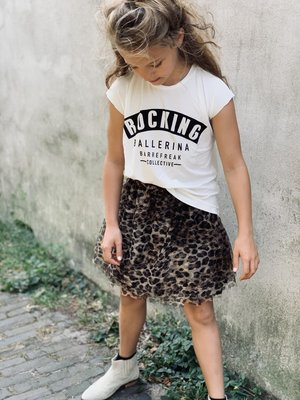 GIRLS TEE : ROCKING BALLERINA OFFWHITE