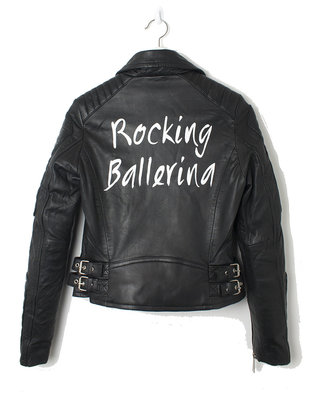 ROCKING BALLERINA BIKER JACKET ( CUSTOMIZED)