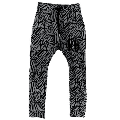 DROPPED CROTCH JOGGER;  ZEBRA