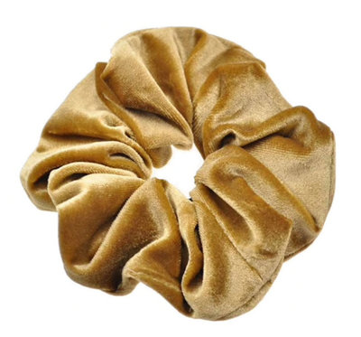 #7.SCRUNCHIE :SOLID COLORED OCRE