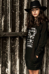 GIRLS HOODED SWEATDRESS EAGLE STARTOUR- MAG NIET MEER RETOUR