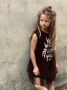 GIRLS MUSCLE TEE : WE WILL ROCK YOU