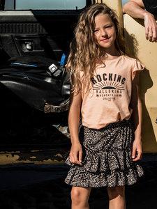 GIRLS RUFFLE TEE : ROCKING BALLERINA SUN PEACH