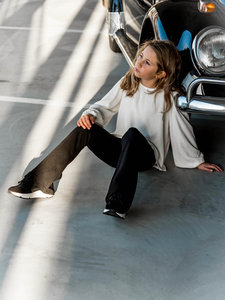 GIRLS BLOUSE BALLOONSLEEVES - COCONUT MILK