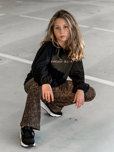 GIRLS LEOPARD FLARE PANTS PUNTA MILANO