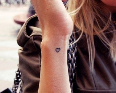 FINE HANDWRITTEN TATS LOVE & HEARTS