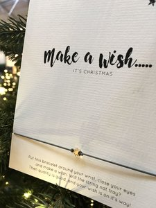 WISH CARD MAKE A WISH - CHRISTMAS
