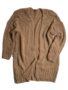 LONG KNITTED CARDIGAN CAMEL